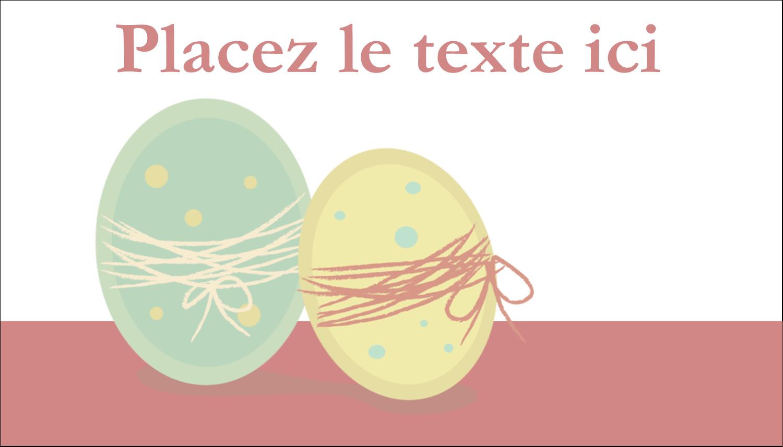 """2"""" x 3½"""" Carte d'affaire - Œufs jumeaux"""