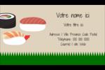Sushis  Carte d'affaire - gabarit prédéfini. <br/>Utilisez notre logiciel Avery Design & Print Online pour personnaliser facilement la conception.