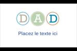 Fête des Pères Carte d'affaire - gabarit prédéfini. <br/>Utilisez notre logiciel Avery Design & Print Online pour personnaliser facilement la conception.