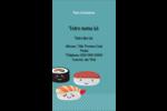 Émoticônes de sushis Carte d'affaire - gabarit prédéfini. <br/>Utilisez notre logiciel Avery Design & Print Online pour personnaliser facilement la conception.