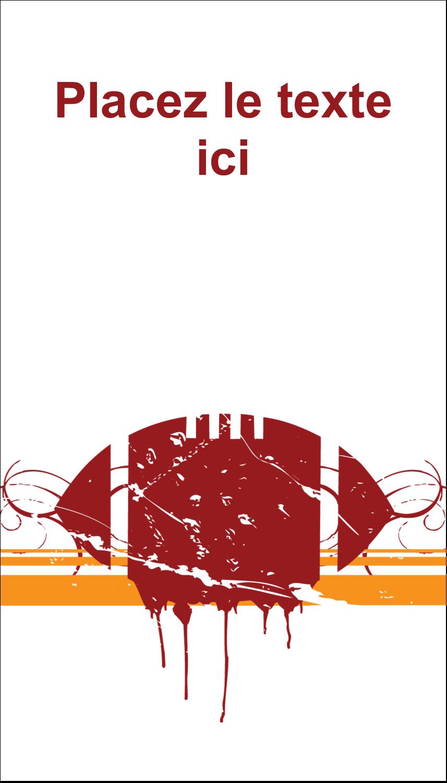 """3½"""" x 2"""" Carte d'affaire - Football débraillée"""