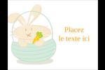 Panier de lapin Carte Postale - gabarit prédéfini. <br/>Utilisez notre logiciel Avery Design & Print Online pour personnaliser facilement la conception.