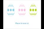 Trio d'œufs de Pâques Carte Postale - gabarit prédéfini. <br/>Utilisez notre logiciel Avery Design & Print Online pour personnaliser facilement la conception.