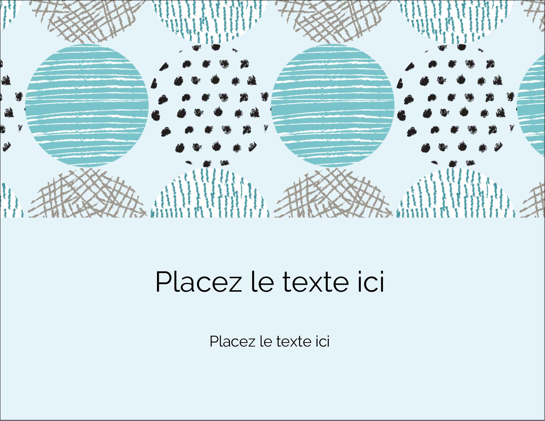 """4¼"""" X 5½"""" Carte Postale - Cercles urbains bleus"""