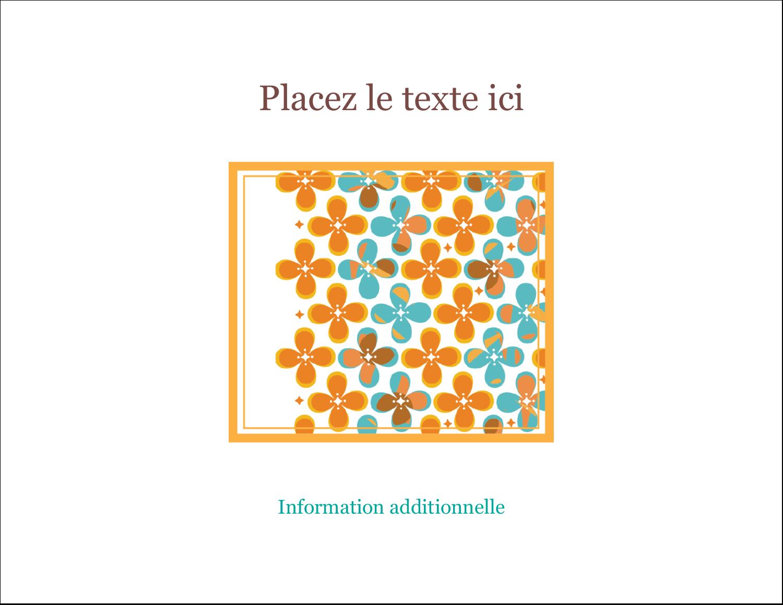 """2"""" x 3½"""" Cartes Pour Le Bureau - Motif fleuri"""