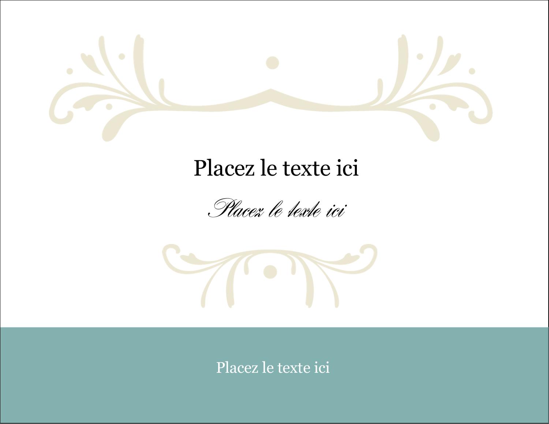 """2"""" x 3½"""" Cartes Pour Le Bureau - Filigrane vert"""