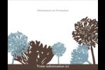 Silhouette de fleur Carte Postale - gabarit prédéfini. <br/>Utilisez notre logiciel Avery Design & Print Online pour personnaliser facilement la conception.
