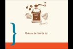 Café classique Carte Postale - gabarit prédéfini. <br/>Utilisez notre logiciel Avery Design & Print Online pour personnaliser facilement la conception.