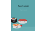 Émoticônes de sushis Carte Postale - gabarit prédéfini. <br/>Utilisez notre logiciel Avery Design & Print Online pour personnaliser facilement la conception.