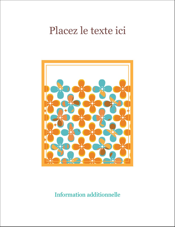 "4¼"" X 5½"" Carte Postale - Motif fleuri"