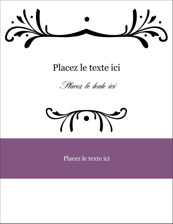 """4¼"""" X 5½"""" Carte Postale - Filigrane violet"""