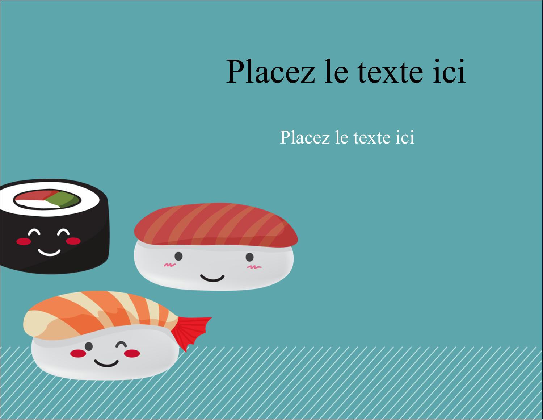 """4¼"""" X 5½"""" Carte Postale - Émoticônes de sushis"""