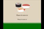Sushis  Carte Postale - gabarit prédéfini. <br/>Utilisez notre logiciel Avery Design & Print Online pour personnaliser facilement la conception.