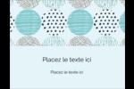 Cercles urbains bleus Carte Postale - gabarit prédéfini. <br/>Utilisez notre logiciel Avery Design & Print Online pour personnaliser facilement la conception.