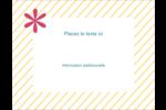 Lignes jaunes Carte Postale - gabarit prédéfini. <br/>Utilisez notre logiciel Avery Design & Print Online pour personnaliser facilement la conception.