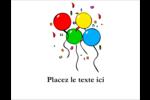 Quatre ballons Carte Postale - gabarit prédéfini. <br/>Utilisez notre logiciel Avery Design & Print Online pour personnaliser facilement la conception.