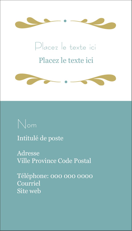 "3½"" x 2"" Carte d'affaire - Filigrane"