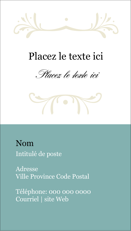 "3½"" x 2"" Carte d'affaire - Filigrane vert"