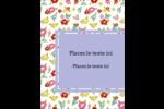 Fleurs printanières Carte Postale - gabarit prédéfini. <br/>Utilisez notre logiciel Avery Design & Print Online pour personnaliser facilement la conception.