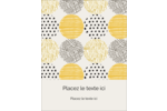 Cercles urbains jaunes Carte Postale - gabarit prédéfini. <br/>Utilisez notre logiciel Avery Design & Print Online pour personnaliser facilement la conception.