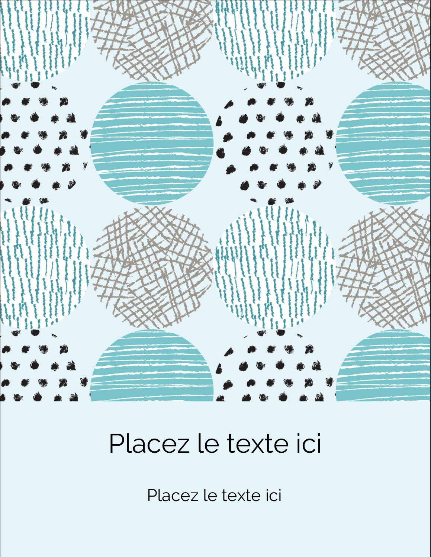 """5½"""" x 4¼"""" Carte Postale - Cercles urbains bleus"""