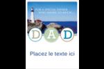 Fête des Pères Carte Postale - gabarit prédéfini. <br/>Utilisez notre logiciel Avery Design & Print Online pour personnaliser facilement la conception.