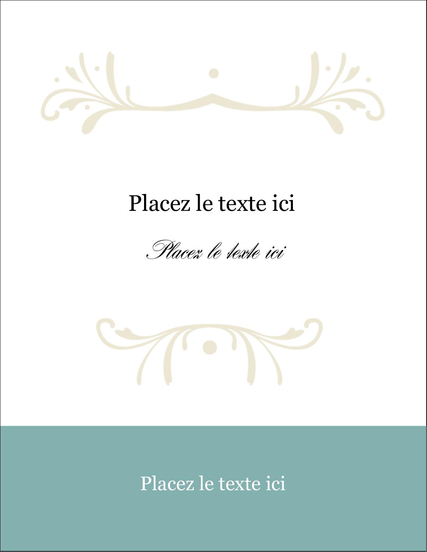 "5½"" x 4¼"" Carte Postale - Filigrane vert"