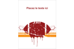 Football débraillée  Carte Postale - gabarit prédéfini. <br/>Utilisez notre logiciel Avery Design & Print Online pour personnaliser facilement la conception.