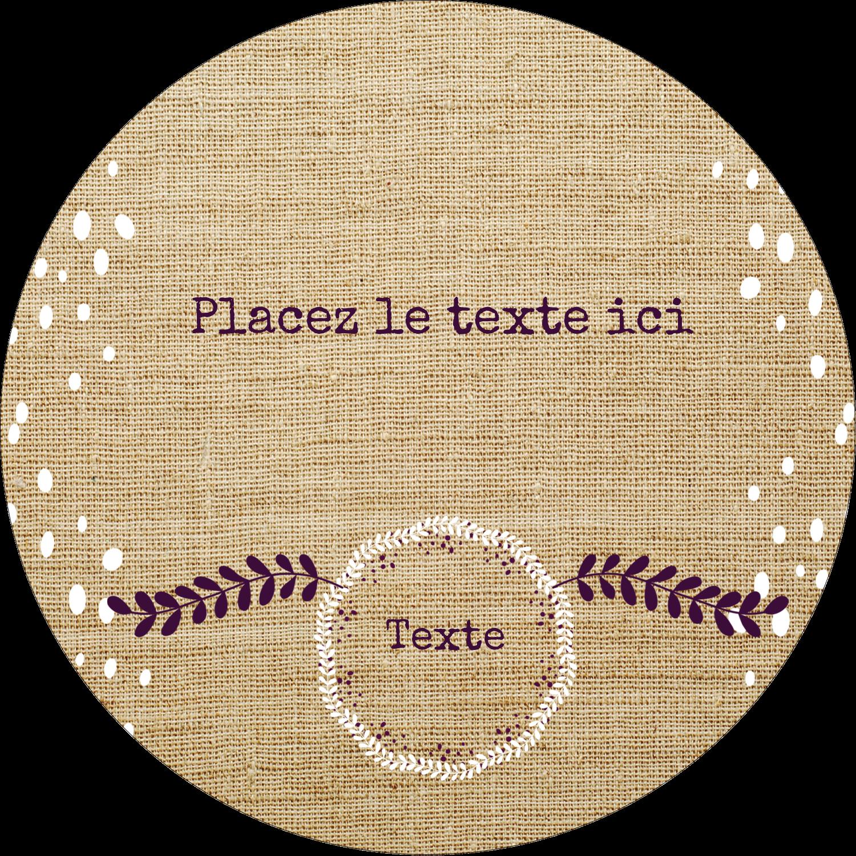 "8½"" x 11"" Binder Insert Reliures - Toile à frange"