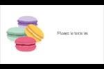 Macarons français Cartes Pour Le Bureau - gabarit prédéfini. <br/>Utilisez notre logiciel Avery Design & Print Online pour personnaliser facilement la conception.