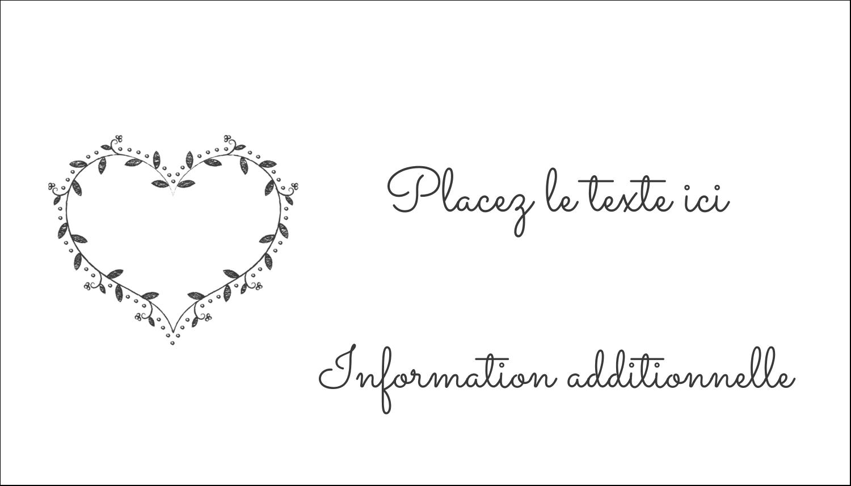 L'amour en tableau Cartes Pour Le Bureau - gabarit prédéfini. <br/>Utilisez notre logiciel Avery Design & Print Online pour personnaliser facilement la conception.