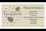 Gratitude Cartes Pour Le Bureau - gabarit prédéfini. <br/>Utilisez notre logiciel Avery Design & Print Online pour personnaliser facilement la conception.