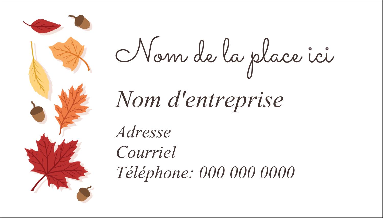 """3"""" x 5"""" Cartes Pour Le Bureau - Feuilles de l'Action de grâces"""