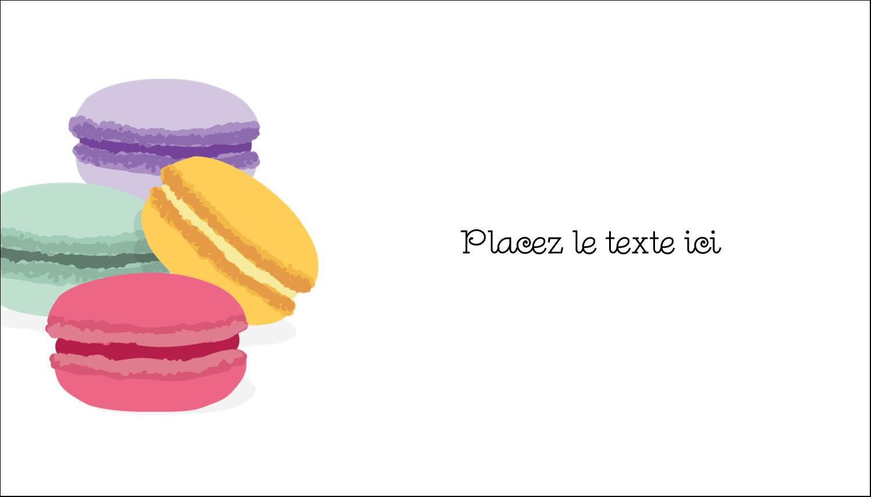 """2"""" x 3½"""" Carte d'affaire - Macarons français"""