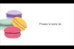 Macarons français Carte d'affaire - gabarit prédéfini. <br/>Utilisez notre logiciel Avery Design & Print Online pour personnaliser facilement la conception.