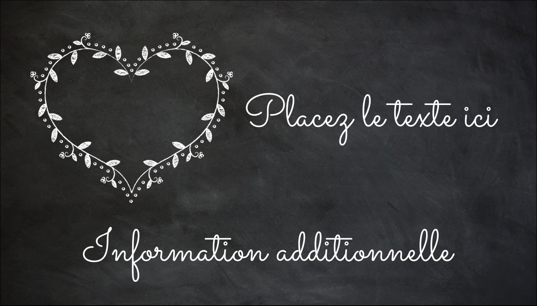 L'amour en tableau Carte d'affaire - gabarit prédéfini. <br/>Utilisez notre logiciel Avery Design & Print Online pour personnaliser facilement la conception.