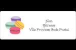 Macarons français Étiquettes D'Adresse - gabarit prédéfini. <br/>Utilisez notre logiciel Avery Design & Print Online pour personnaliser facilement la conception.