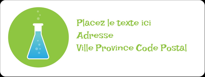 """1½"""" x 4"""" Étiquettes D'Adresse - Célébration de savant fou"""