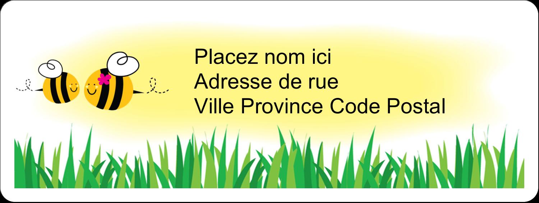 """⅔"""" x 1¾"""" Étiquettes D'Adresse - Maman abeille"""