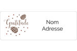 Gratitude Étiquettes D'Adresse - gabarit prédéfini. <br/>Utilisez notre logiciel Avery Design & Print Online pour personnaliser facilement la conception.