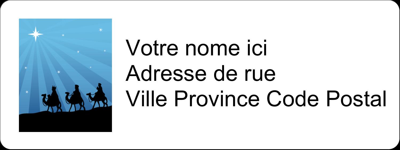 """⅔"""" x 1¾"""" Étiquettes D'Adresse - Trois rois mages"""
