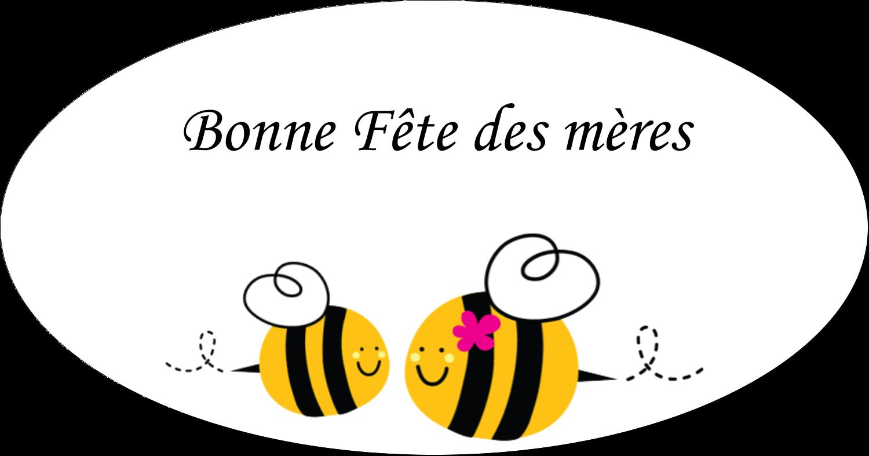 Étiquettes Polyvalentes - Maman abeille
