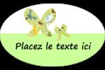 Deux papillons Étiquettes ovales - gabarit prédéfini. <br/>Utilisez notre logiciel Avery Design & Print Online pour personnaliser facilement la conception.