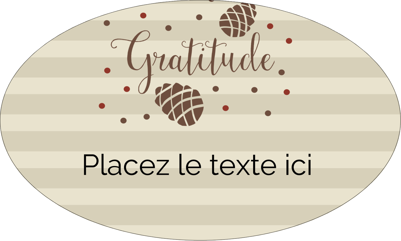"""1½"""" x 1½"""" Étiquettes carrées - Gratitude"""