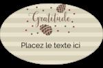Gratitude Étiquettes carrées - gabarit prédéfini. <br/>Utilisez notre logiciel Avery Design & Print Online pour personnaliser facilement la conception.