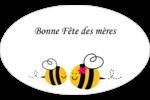 Maman abeille Étiquettes ovales - gabarit prédéfini. <br/>Utilisez notre logiciel Avery Design & Print Online pour personnaliser facilement la conception.