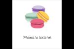 Macarons français Étiquettes carrées - gabarit prédéfini. <br/>Utilisez notre logiciel Avery Design & Print Online pour personnaliser facilement la conception.