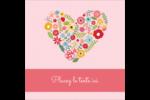 Cœurs et fleurs Étiquettes carrées - gabarit prédéfini. <br/>Utilisez notre logiciel Avery Design & Print Online pour personnaliser facilement la conception.