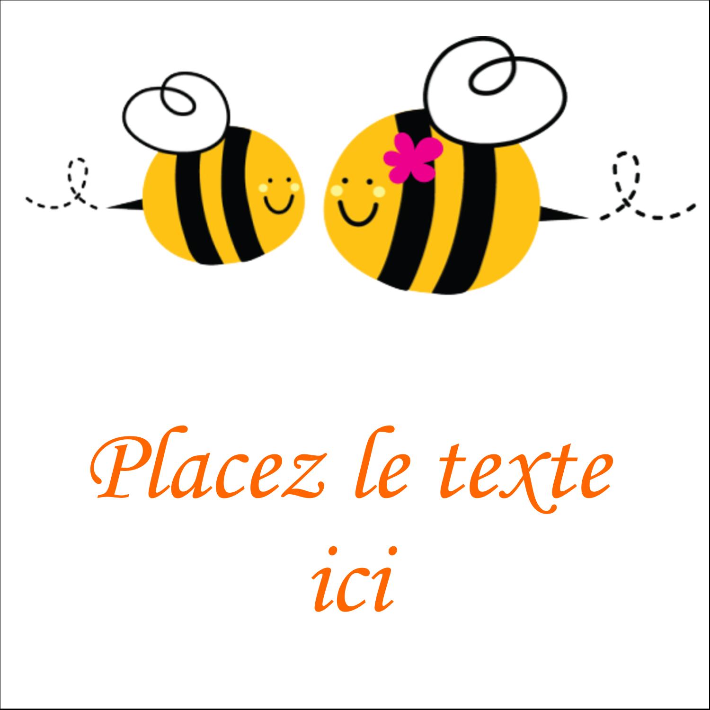 """2"""" x 2"""" Étiquettes carrées - Maman abeille"""