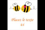 Maman abeille Étiquettes carrées - gabarit prédéfini. <br/>Utilisez notre logiciel Avery Design & Print Online pour personnaliser facilement la conception.